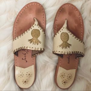 Jack Rodgers Pineapple Leather Sandals- Size 7